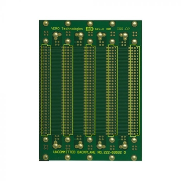 Circuitboards - 5 Slot Backplane for 96 way connectors 222-63632 - PCB Only