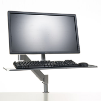 Reach4 Monitor Arm Gas-Lift with Keyboard Holder