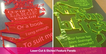 Acrylic Laser Etching Services