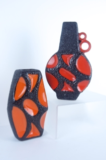Modernist Ceramics - Roth Vases 313 and 309 from West Germany