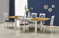 Amelie Two Tone Extendable Dining Table