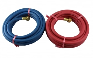 5M Oxy/Acetylene Hose Assembly 6mm ID 3/8 - 1/4 BSP