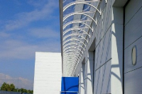 Cantilevered Canopy Coverings