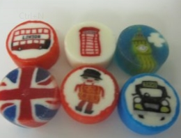 London Themed Rock Sweets For Use In The Tourist Industry