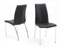 Ada Black Leather Dining Chair