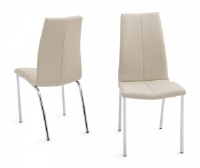 Ada Cream Leather Dining Chair