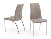 Ada Taupe Leather Dining Chair