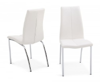 Ada White Leather Dining Chair