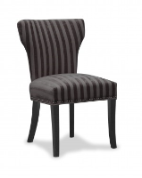 Adrianna Vintage Inspired  Charcoal Striped Dining Chair