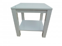 Adriel Square White Gloss Side Table