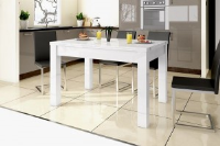 Martha High Gloss White Dining Table Extends From 130 cm to 260 cm
