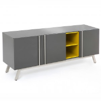 Rupert Grey And Yellow Gloss Sideboard 200cm