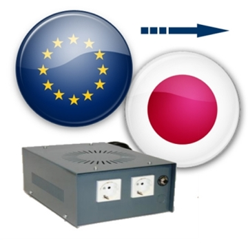 Europe to Japan voltage converters (100 to 230v converters)