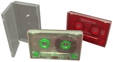 Cassette Tape Duplication in clear polycases
