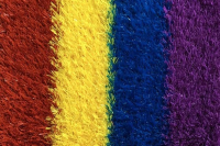 Artificial Rainbow Track Grass | 25mm Pile Depth | 26.59 per sq metre