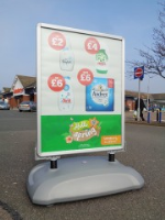 Double Sided Forecourt Signs