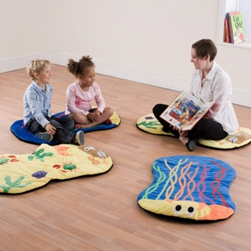 Pack Of 4 Under The Sea Snuggle Mats For Nurseries