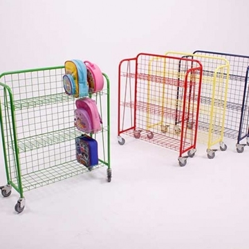 Coloured Lunch Box Trolleys For Nurseries