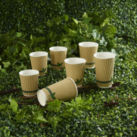 Hot Drink Cups With Insulating Jackets For Christmas Markets
