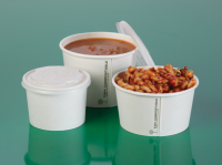 Compostable White Thermal Containers For Food Festivals