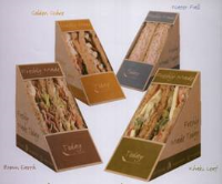 Eco-Friendly Deepfill Sandwich Wedges For Take-away Cafes