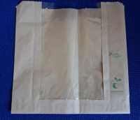Fully Biodegradable Film Front Brown Paper Bags