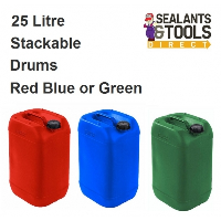 25 Litre PL25 Plastic Liquid Container Drum Can Red Blue or Green