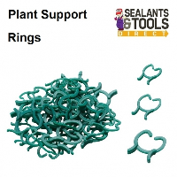 Garden Plant Support Rings Green Ties 3 Sizes Pack of 50