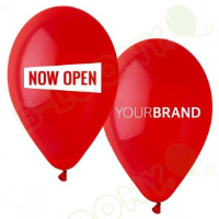 Bespoke Now Open Printed Latex Balloons For Bussiness Events