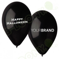 Happy Halloween Printed Latex Balloons For Car Dealerships In Luton