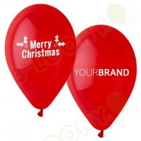 Merry Christmas Printed Latex Balloons For Bussiness Events In Luton