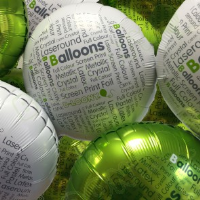 """18"""" Printed Foil Balloons For Floristry Business In Luton"""