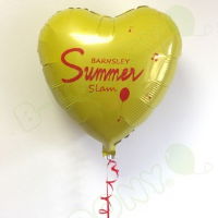 "18"" Custom Printed Heart Foil Balloon For Floristry Business In Luton"