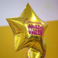 """19"""" Custom Printed Star Foil Balloons For Bussiness Events In High Wycombe"""