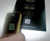 Chemical Resistant QR Code Labels For Identification Information For Stock Control
