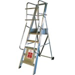 Stainless Steel Aluminium Vision Stepladders For Commercial Industries