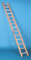 Stainless Steel Wooden Single Section Ladders For Commercial Industries
