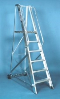 Stainless Steel Mobile Warehouse Steps For Commercial Industries