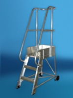 Stainless Steel Fixed Platform Steps For Commercial Industries