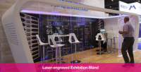 Acrylic Laser Engraving For Exhibition Stands