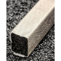 410-0060-0080SFG Fabric Over Foam Soft EMI Shielding Gasket Rectangle Shape 6.0mm x 8.0mm (WxH)