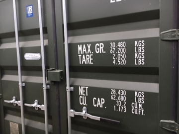 45' High-Cube Storage Containers