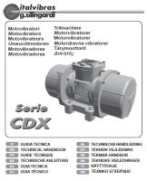 Electric Rotary Vibrator (Type CDX) Manual