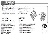 Electric Rotary Vibrator (Type MVB, VB, MTF) Manual