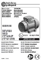Electric Rotary Vibrator (Type MVSI M3) Manual
