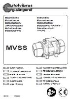 Electric Rotary Vibrator (Type MVSS) Manual