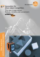 Dualis Object Recognition Application Brochure UK