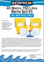40 Metre 700 Litre Marine Spill Kit from SERPRO