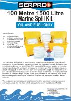 100 Metre 1500 Litre Marine Spill Kit from SERPRO