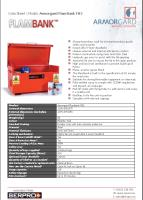 Armorgard FlamBank FB2 - Strong hazardous vault for storing hazardous goods safely and securely